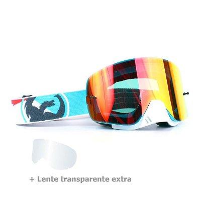 Óculos Dragon NFX-S Incline - Lente Vermelha Espelhada + Lente Transparente