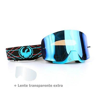 Óculos Dragon NFX-S Pinned - Lente Azul Espelhada + Lente Transparente