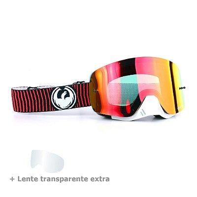 Óculos Dragon NFX-S Vibrate - Lente Vermelha Espelhada + Lente Transparente
