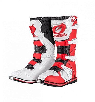 Bota ONEAL Rider - Vermelho/Branco