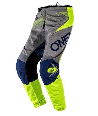 Calça ONEAL Element Factor - Cinza/Azul/Amarela