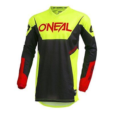 Camisa ONEAL Element Racewear - Amarelo Neon