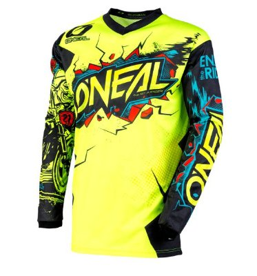 Camisa ONEAL Element Villain - Amarelo Neon