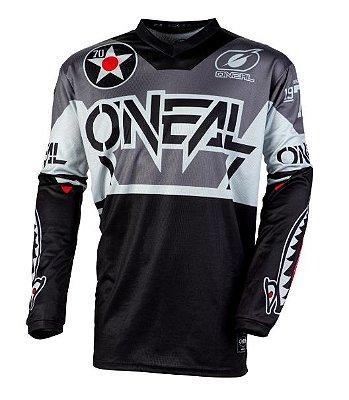Camisa ONEAL Element Warhawk - Preto/Cinza