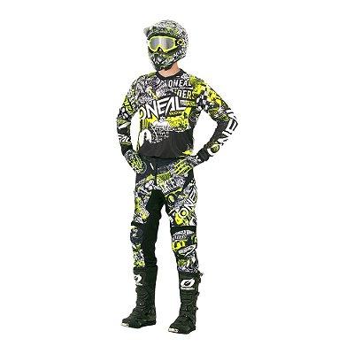 Calça + Camisa ONEAL Element Attack - Amarela
