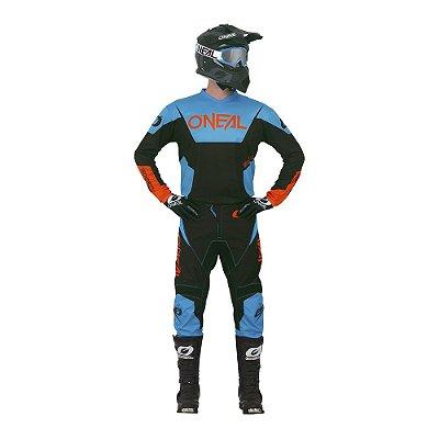 Calça + Camisa ONEAL Element Racewear - Azul