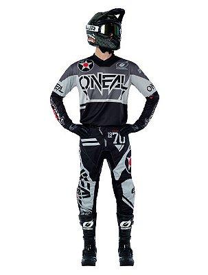 Calça + Camisa ONEAL Element Warhawk - Preto/Cinza