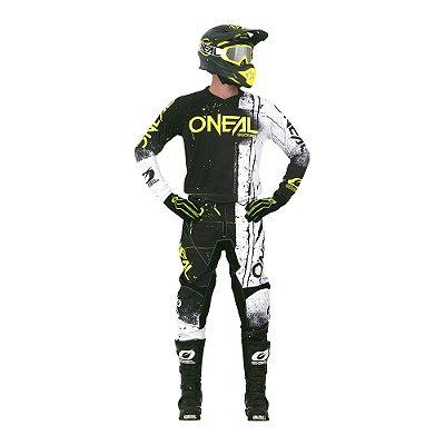 Calça + Camisa ONEAL Element Shred - Preto
