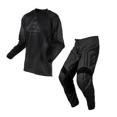 Calça + Camisa Answer Syncron Drift - Preta