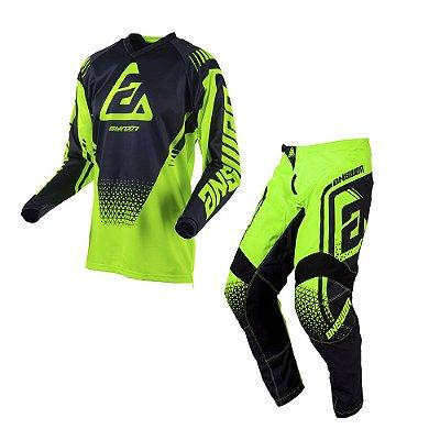 Calça + Camisa Asnwer Syncron Drift Hyper - Verde