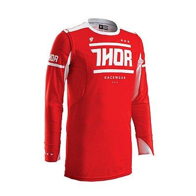 Camisa Thor Prime Fit Squad - Vermelho/Branco