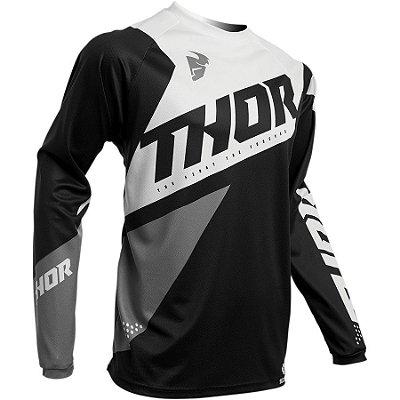 Camisa Thor Sector Blade - Preto/Branco