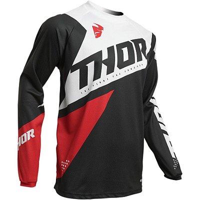 Camisa Thor Sector Blade - Preto/Vermelho
