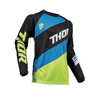 Camisa Thor Sector Shear - Preto/Verde