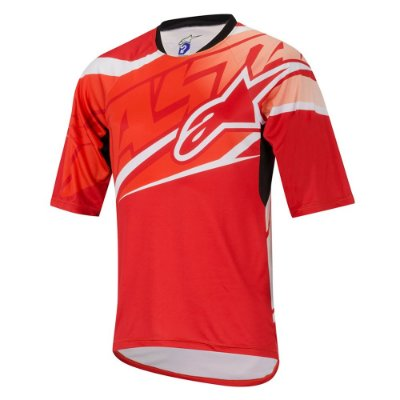 Camisa Ciclismo Alpinestars Sight Manga Curta - Vermelho