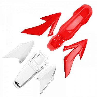 Kit Plástico UFO CRF 250 14 + CRF 450 13/14 - com Number Frontal (Não tem Air Box Cover)