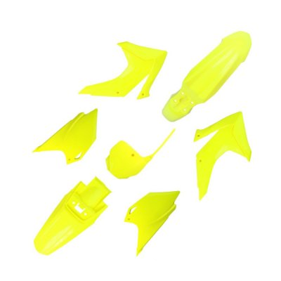 Kit Plástico UFO CRF 230 15/19 - Com Number Frontal - Amarelo Fluo