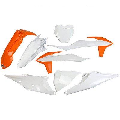Kit Plástico Ufo KTM SX/SX-F 19/20 - Original - Completo (Sem Protetor De Bengala)