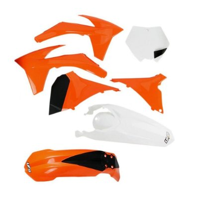 Kit Plástico Ufo KTM SX/SX-F 11/12 - Original (Com Number Frontal + AirBox / Sem Number Lateral)