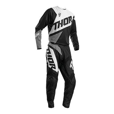 Calça + Camisa Thor Sector Blade - Preto/Branco