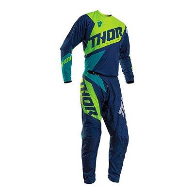 Calça + Camisa Thor Sector Blade - Azul/Verde