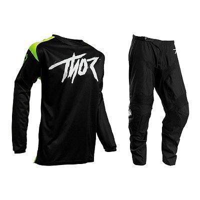 Calça + Camisa Thor Sector Link - Preto/Verde