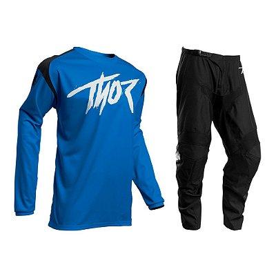 Calça + Camisa Thor Sector Link - Azul/Preto
