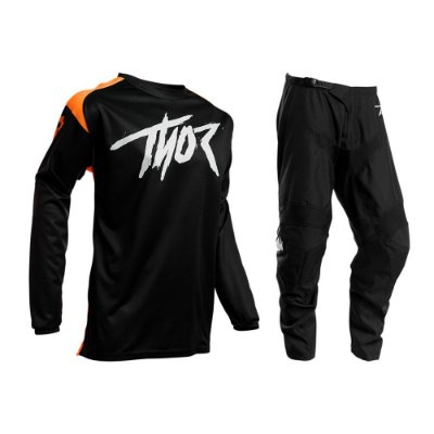 Calça + Camisa Thor Sector Link - Preto/Laranja