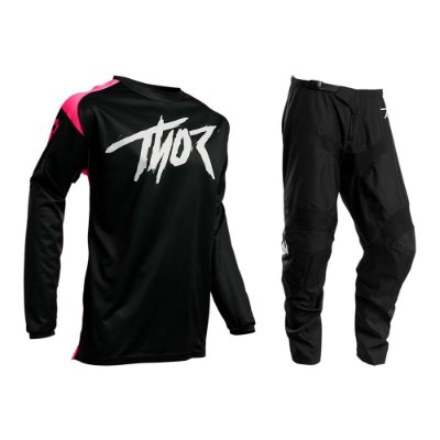 Calça + Camisa Thor Sector Link - Preto/Rosa