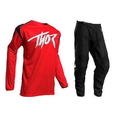 Calça + Camisa Thor Sector Link - Vermelho/Preto