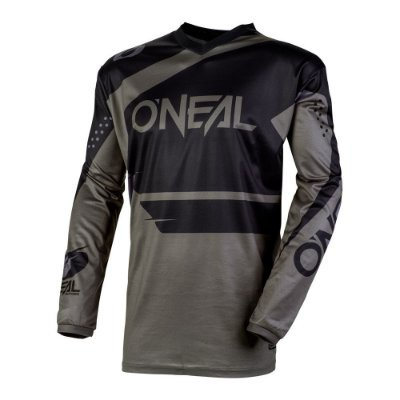 Camisa ONEAL Element Racewear - Preta/Cinza