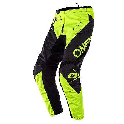 Calça ONEAL Element Racewear - Preta/Amarela Neon