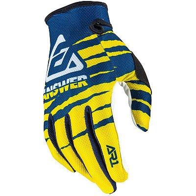Luva Answer AR1 Pro Glo - Amarela/Azul/Branca