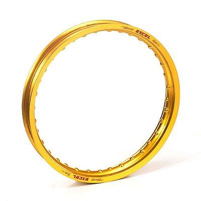Aro Excel Takasago Dianteiro + Traseiro Gold Dourado (par) - 21X1.60 36H + 19X1.85 32H