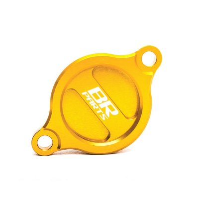 Tampa do Filtro de Óleo BR Parts RMZ 250 07/14 + RMZ 450 05/14 - Dourado