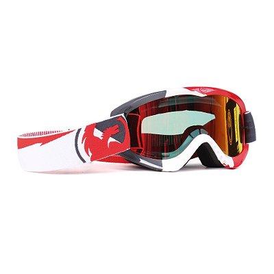 Óculos Dragon MDX Incline (Lente Vermelha Espelhada + Lente Transparente Bônus)