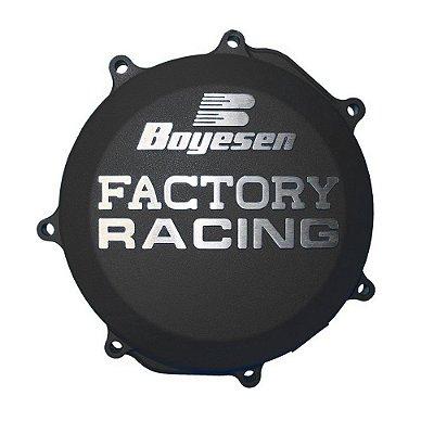 Tampa de Embreagem Boyesen KTM 250/350 EXC-F 17/19+250/350 SX-F/XC-F 16/19+HUSQ. FC 250 16/19 - Preta