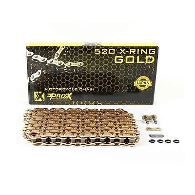 Corrente ProX X-Ring com Retentor Dourada - 520x120