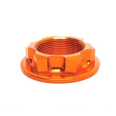 Porca para Coluna de Direção BR Parts KTM EXC/F/R 125/250/350/450/520/530 - Laranja