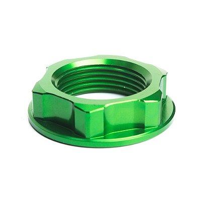 Porca para Coluna de Direção BR Parts KXF 250 04/14 + KXF 450 04/14 + KX 125 + KX 250 + DRZ 400 - Verde