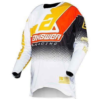 Camisa Answer Elite Korza - Preto/Branco/Amarelo/Laranja - M