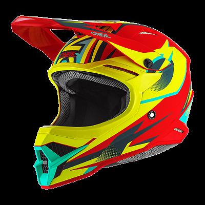 Capacete O'Neal 3Series Helmet Riff 2.0 - Vermelho/Amarelo