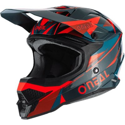 Capacete O'Neal 3Series Helmet Triz - Vermelho/Verde