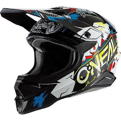 Capacete O'Neal 3Series Helmet Villain 2.0 - Preto/Branco