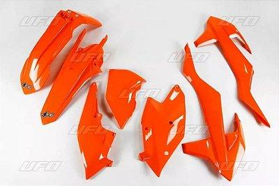 Kit Plástico Ufo KTM EXC-F 250 17/19 + KTM EXC-F 350 17/19 + KTM EXC 300 17/19 - Laranja