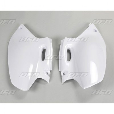 Kit Number Lateral Ufo YZF 250 01/02 + WRF 250 01/02 + YZF/WRF 400/426 98/02 - Branco