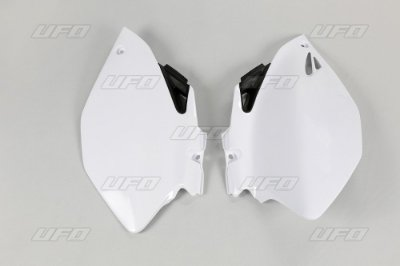Kit Number Lateral Ufo YZF 250 06/09 + YZF 450 06/09 - Branco