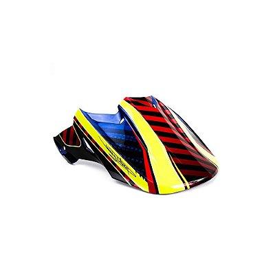 Pala Fly Racing Para Capacete Fly F2 - Azul/Vermelho/Amarelo