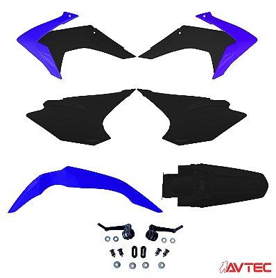 Kit Plástico AVTEC CRF 230 2015 Completo (Adaptável 2008/2018) - Azul/Preto