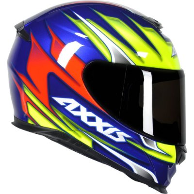 Capacete Axxis Eagle Speed Gloss - Azul/Amarelo